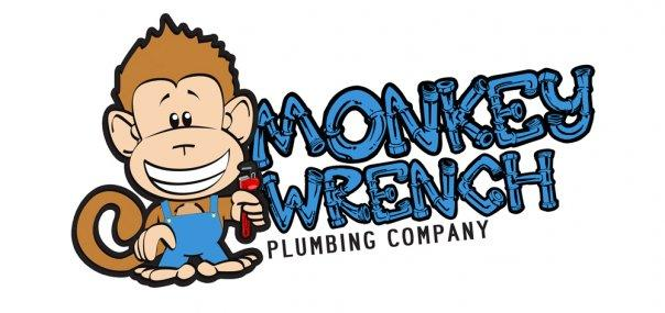 Water Heater Company  Monkey Wrench Plumbing Company Logo